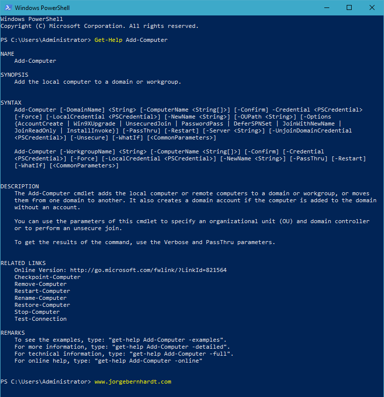 How to add Computer to a Domain using PowerShell » Jorge