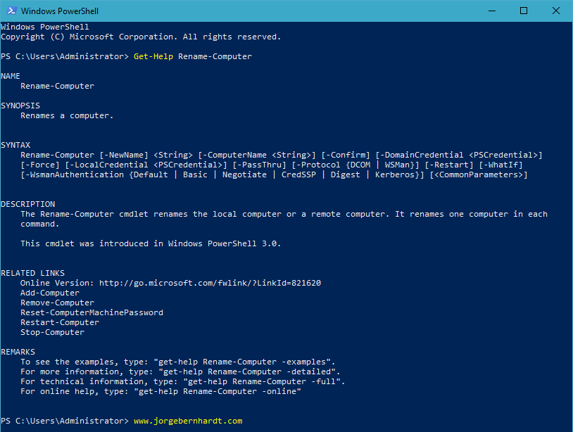How to rename a computer with PowerShell » Jorge Bernhardt