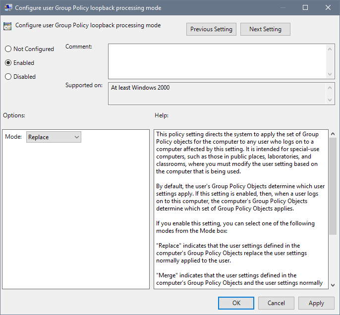 How to Enable Group Policy Loopback Processing » Jorge Bernhardt
