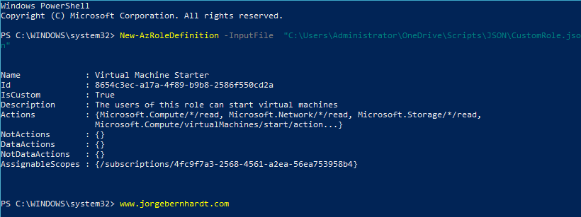 How to create and manage custom roles using Azure PowerShell