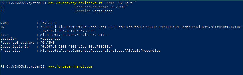 How to create an Azure Recovery Services Vault » Jorge Bernhardt