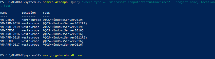 Azure Resource Graph PowerShell