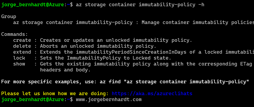 immutable policy