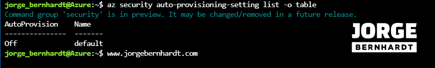 Security Center auto-provisioning